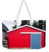 Red Fishing Shack Pei Weekender Tote Bag by Edward Fielding