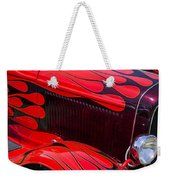 Red Flames Hot Rod Weekender Tote Bag by Garry Gay