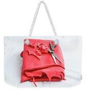 Red Fleece Weekender Tote Bag