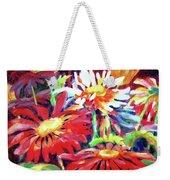 Red Floral Mishmash Weekender Tote Bag