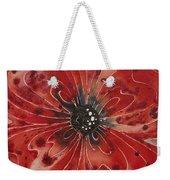 Red Flower 1 - Vibrant Red Floral Art Weekender Tote Bag