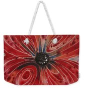 Red Flower 2 - Vibrant Red Floral Art Weekender Tote Bag