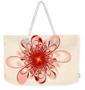 Single Red Flower Weekender Tote Bag