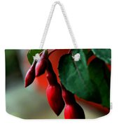Red Flower Buds Weekender Tote Bag