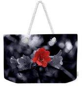 Red Flower Petals Weekender Tote Bag