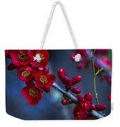 Red Flowering Quince Weekender Tote Bag