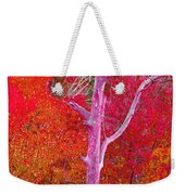 Pink Tree In A  Red Forest Weekender Tote Bag