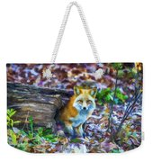 Red Fox At Home Weekender Tote Bag