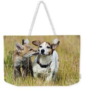Red Fox Cub With Jack Russell Weekender Tote Bag
