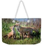 Red Fox Family Weekender Tote Bag