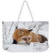 Red Fox Making Dinner Plans Weekender Tote Bag