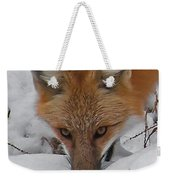 Red Fox Upclose Weekender Tote Bag