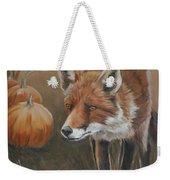 Red Fox With Pumpkins Weekender Tote Bag