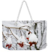 Red Fruit With Snow Weekender Tote Bag