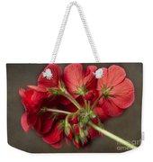 Red Geranium In Progress Weekender Tote Bag