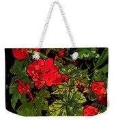 Red Geranium Line Art Weekender Tote Bag