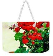 Red Geranium Weekender Tote Bag