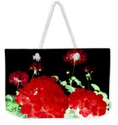 Red Geraniums Weekender Tote Bag by Will Borden