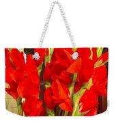 Red Glads Blooming Weekender Tote Bag