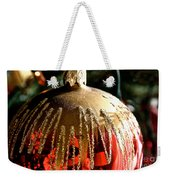 Red Gold Glitter Weekender Tote Bag