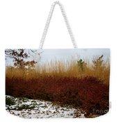 Red Gold Hedge Weekender Tote Bag