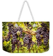 Red Grapes In Vineyard Weekender Tote Bag