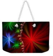 Red Green And Blue Fractal Stars Weekender Tote Bag
