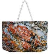 Red Growth Rock Weekender Tote Bag