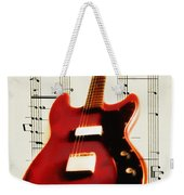 Red Guitar Weekender Tote Bag by Bill Cannon