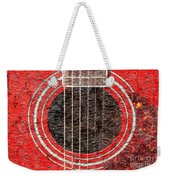 Red Guitar - Digital Painting - Music Weekender Tote Bag