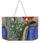 Red-haired Girl On A Sydney Train Weekender Tote Bag