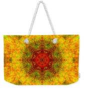 Red Heart Sun Rainbow Mandala Weekender Tote Bag