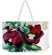 Red Helleborous Weekender Tote Bag