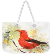 I'iwi - Hawaiian Red Honeycreeper Weekender Tote Bag