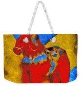 Red Horse Weekender Tote Bag