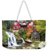 Red House By The Waterfall Weekender Tote Bag