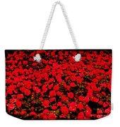 Red Impatiens Flowers Weekender Tote Bag