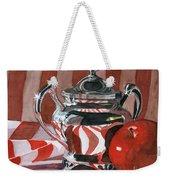 Red In Silver Weekender Tote Bag