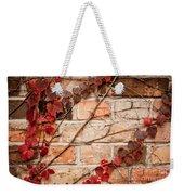 Red Ivy Leaves Creeper Weekender Tote Bag