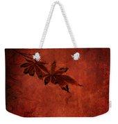 Red Japanese Maple On Red Weekender Tote Bag