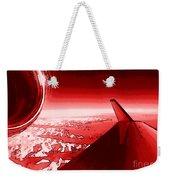 Red Jet Pop Art Plane Weekender Tote Bag