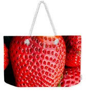 Red Juicy Delicious California Strawberry Weekender Tote Bag