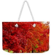 Red Leaf Road Weekender Tote Bag