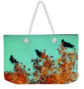 Red Leaves Among The Ravens Weekender Tote Bag