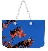 Red Leaves Blue Sky Weekender Tote Bag