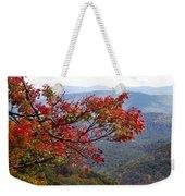 Red Leaves In The Blueridge Weekender Tote Bag