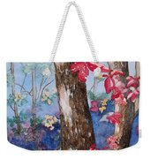 Red Leaves Weekender Tote Bag