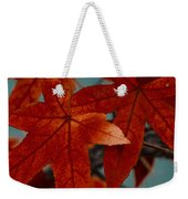 Red Leaves On The Branches In The Autumn Forest. Weekender Tote Bag