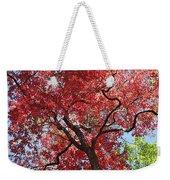 Red Leaves On Tree Weekender Tote Bag