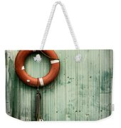 Red Life Saver Rescue Floatation Weekender Tote Bag